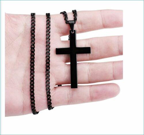 Collar con jesús cruz remolque en colores creo regalo nuevo grande 5x3 cm