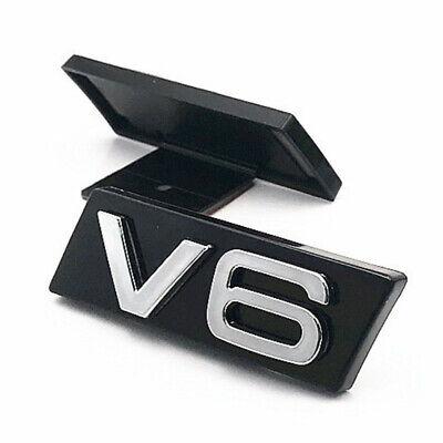 New Metal Chrome V6 Vintage Logo Auto Car Front Grille Emblem Badge Sticker