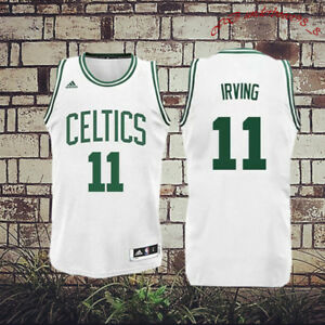 first rate db897 480a5 Details about Boston Celtics 11 Kyrie Irving Basketball Jersey Movie  Stitched, White Green