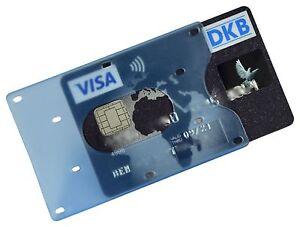 EC Kartenhülle Hellblau Transparent STABIL Kreditkartenhülle Scheckkartenbox