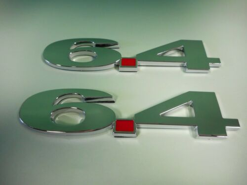 NEW  6.4L 6.4 DIESEL FENDER  EMBLEMS FORD DODGE CHROME PAIR