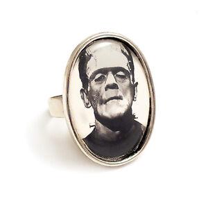 Frankenstein-ring-Frankenstein-039-s-monster-silver-adjustable-gothic-Boris-Karloff
