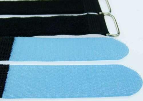 Cavo 10x nastro di velcro 40 CM x 40 mm blu chiaro nastro di velcro Velcro Fascette per cavi a nastro ASOLA