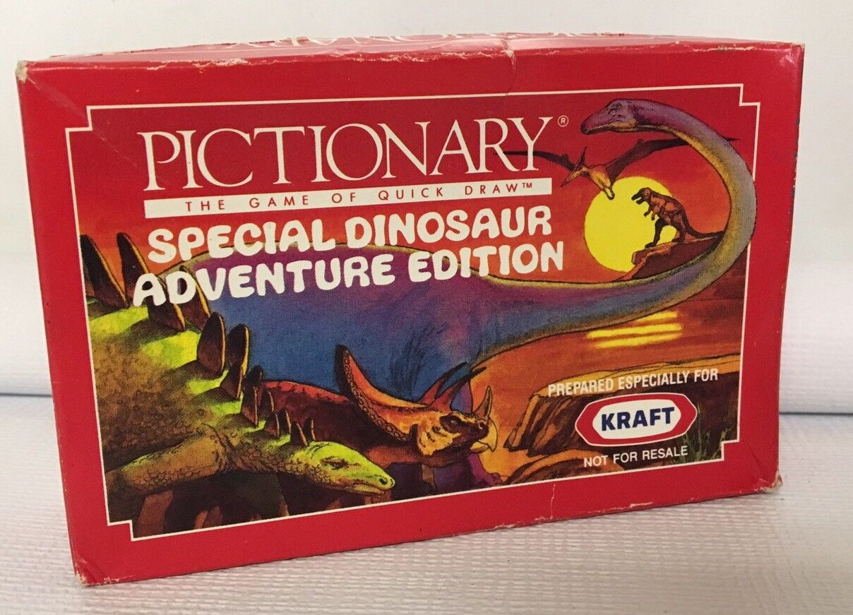 Pictionary Travel Mini Dinosaur Adventure Edition Game HTF Macaroni Prize NEW