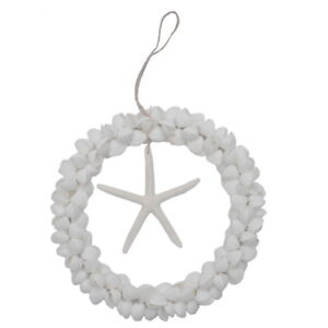 Clamrose Sea Shell W Starfish Hanger 8 Quot Wreath Coastal