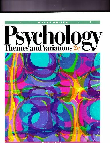 Psychology: Brief to 2r.e: Themes and Variations by Weiten, Wayne Paperback The