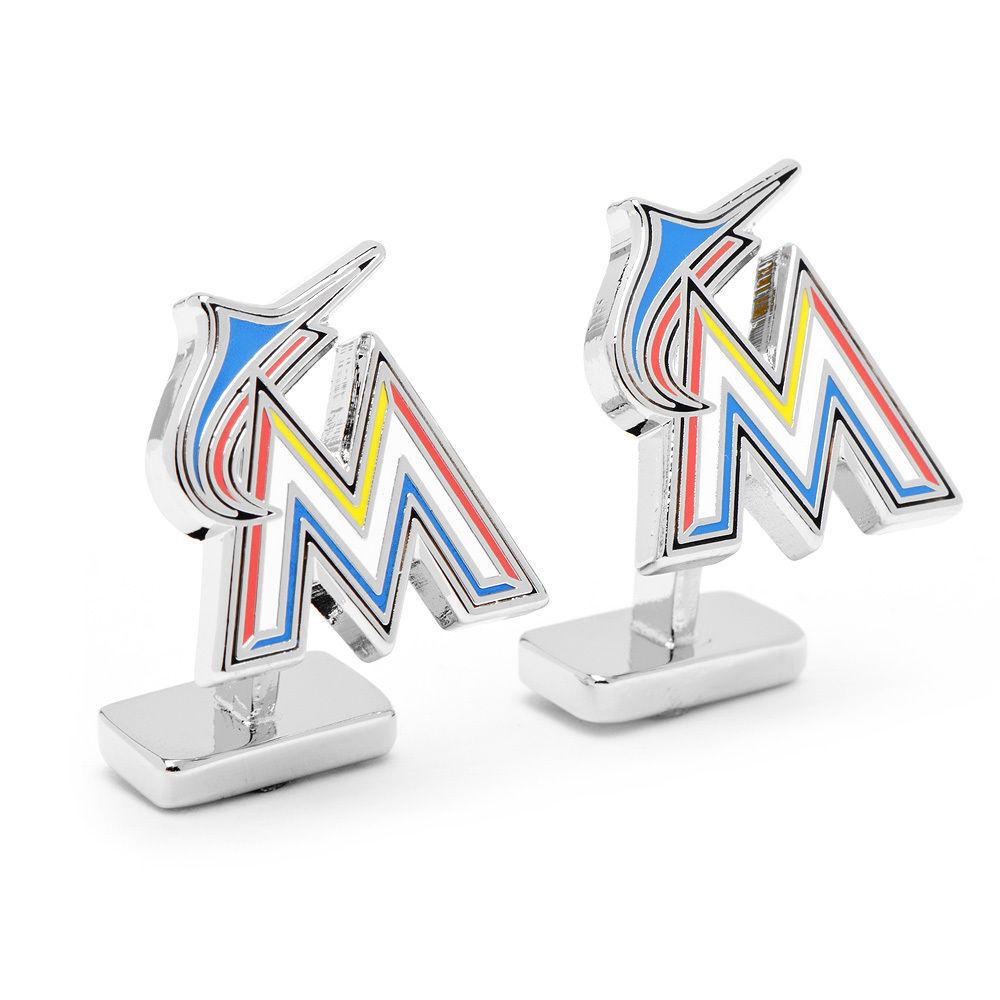 Deluxe Miami Marlins Palladium Manschettenknöpfe Neu Neu Neu in MLB Geschenkverpackung 47468e