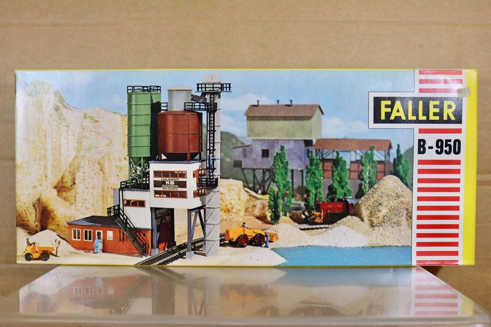 Faller B-950 Échelle Ho Karl Burger Kb Ciment Fonctionne Usine Trémie