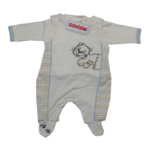 Baumwolle Beige Jersey Gr.50,62 Schnizler Babyanzug Strampler Set 2-tlg