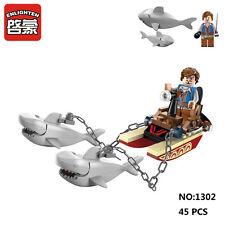 Enlighten Pirates Legendary 1302 Shark Boat Building Block Toy blocks toys hot