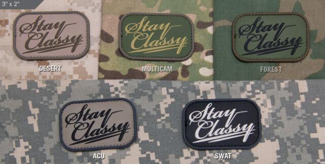 Mil Spec Monkey MSM Stay Classy PVC Patch-Multicam-Woodland-Desert-SWAT-ACU