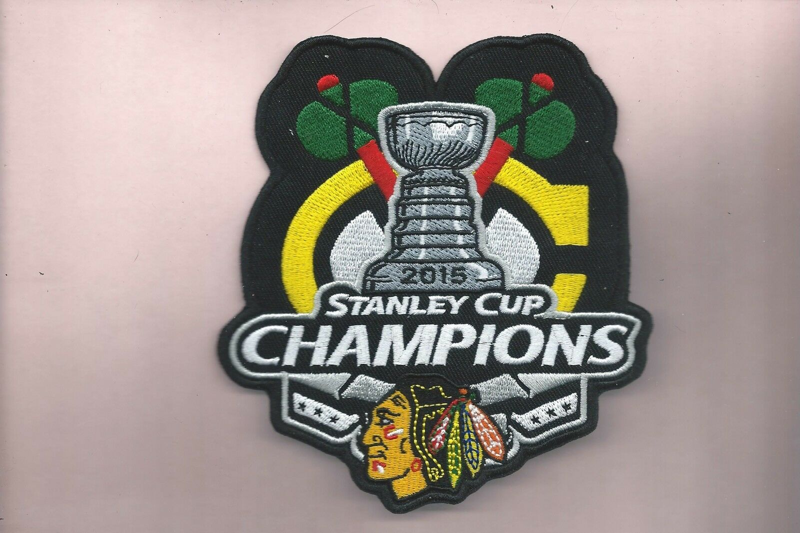 4 1 2 X 5 1 8 Inch Chicago Blackhawks SC Champions Iron on Patch ... ec2527a555b9