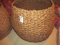 2 Pottery Barn Kids Woven Baskets, Natural, Large + Medium ,new