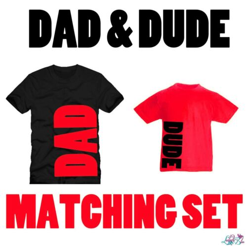 Red Dad And Dude Matching T-Shirt SetFather SonDad N LadFathers Day
