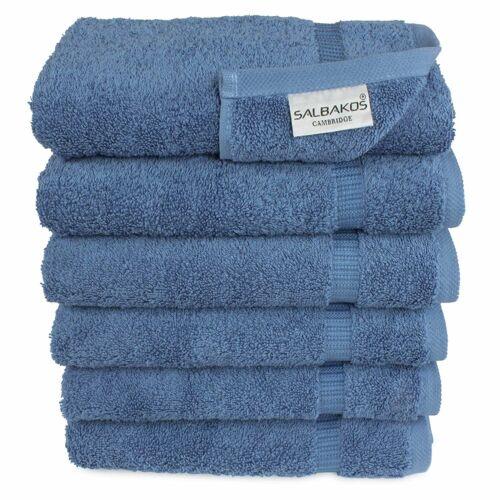 SALBAKOS Luxury Turkish Cotton 6-Piece Eco-Friendly Hand Towels Pick Color