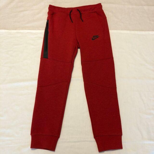2532579dd236 Nike Sportswear Tech Fleece Boys Pants Size 7 86b203-r1u Red Black ...