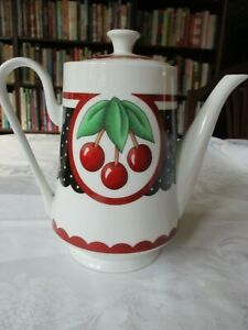 Vintage-Mary-Engelbreit-Cherry-Coffee-Pot-2001-Enesco