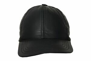 BASEBALL Cap hat Men s Ladies Real Soft Lambskin Leather Cap Top ... fa7b77b307d