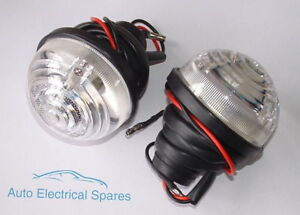 Lucas-type-L760-clear-side-indicator-lamp-light-unit-x-2-for-LAND-ROVER-Mini