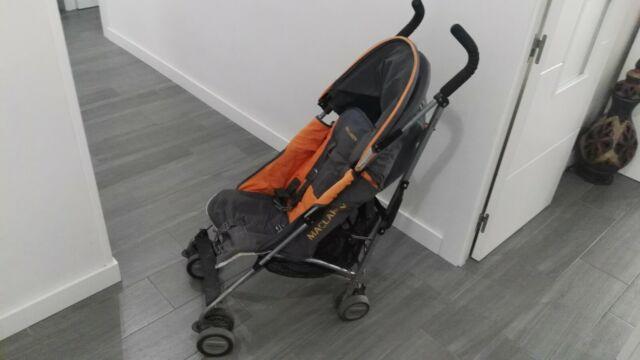 y gris color de Maclaren Quest Silla paseo naranja Ybgf76yv