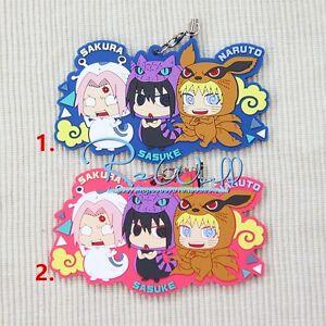 NARUTO BORUTO MH Sazuke Sakura Anime Rubber Strap Charm Keychain Keyring Gift