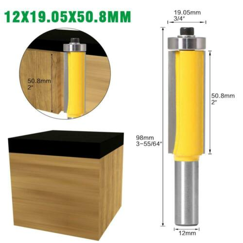 """1pc 12mm Shank 2/"""" 3/"""" Flush Trim Router Bit with Bearing for Wood Template"""