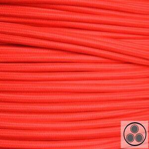 Textilkabel Stoffkabel Lampen-Kabel Stromkabel Elektrokabel Retro Grün 3adrig