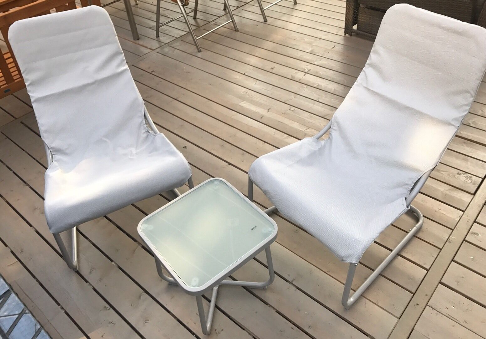 Balkonmöbel Set Melfi Campingset 3 teilig inkl Tisch Terrasse NEU & OVP