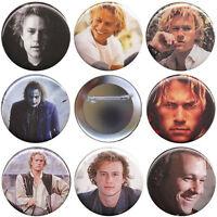 Heath Ledger Set Of 8 Pinback Buttons, Magnets Or Flatbacks - Joker Pins Badges
