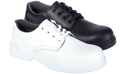 Portwest Steelite Laced Safety Shoe S2 Steel Toe Catering Kitchen SRC FW80