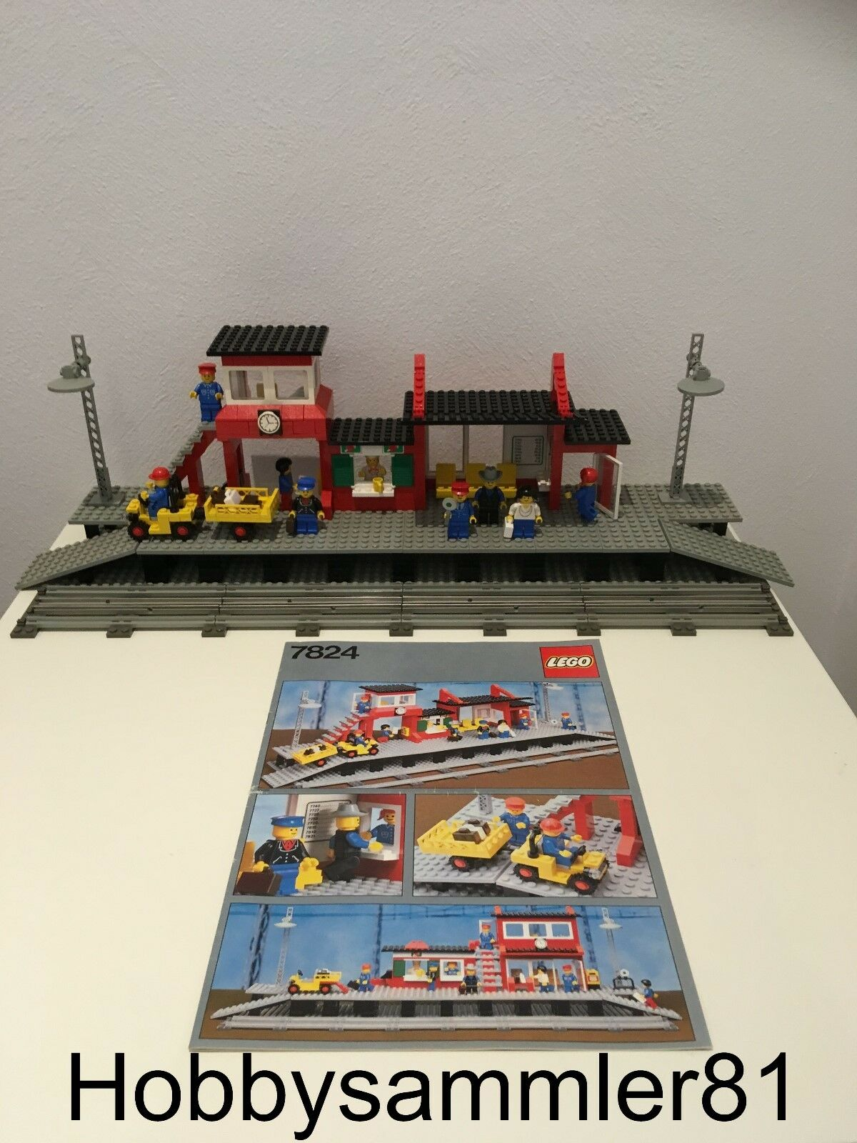 Lego® 7824 Railway Station / Bahnhof / 4,5V 12V Eisenbahn
