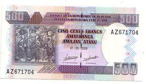 Burundi-500-franchi-2009-FDS-UNC-Pick-45-a-Lotto-3573