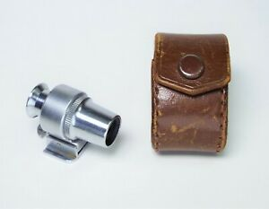 Vintage 13.5cm Optical Finder with its Original Leather Case - Metal and Glass