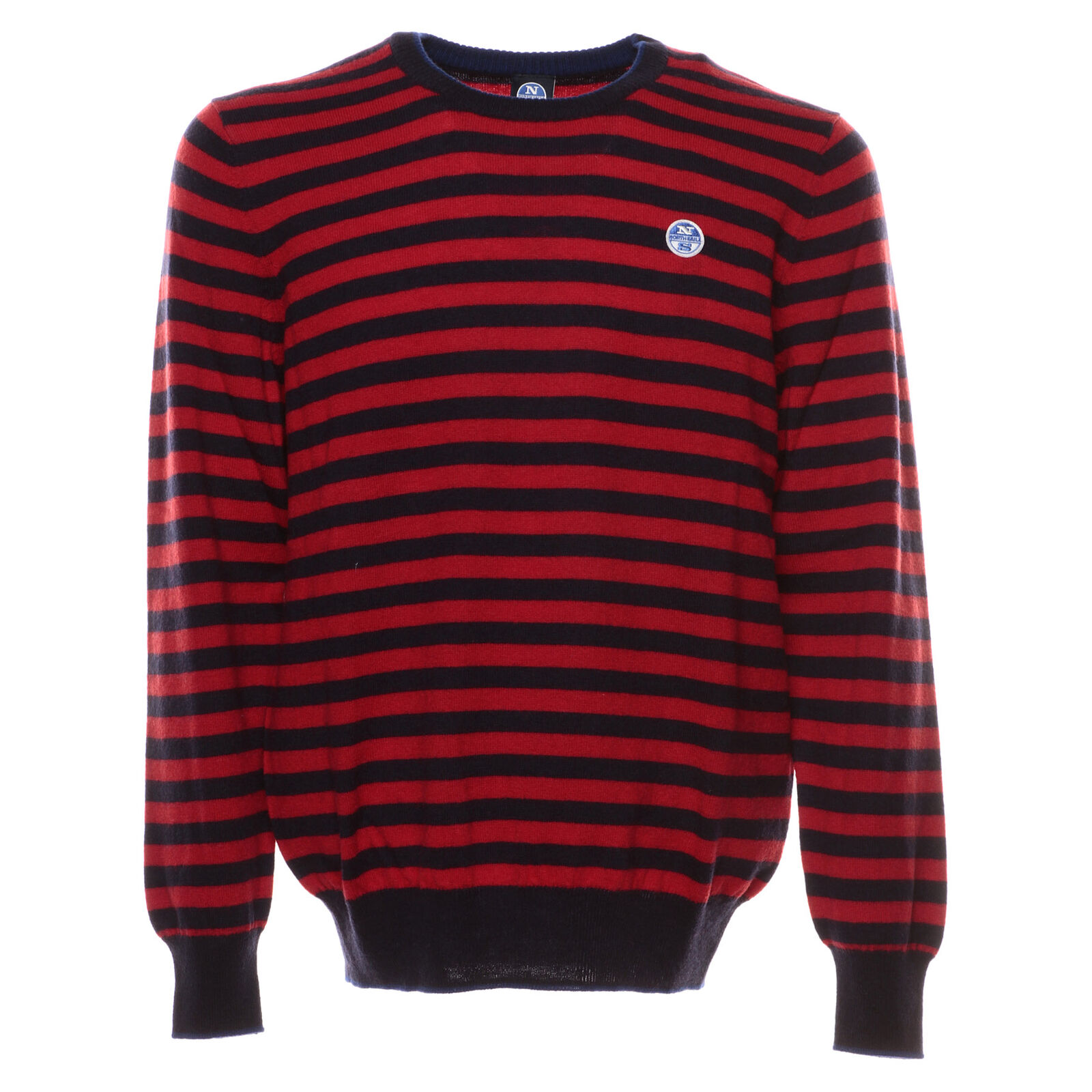 NORTH SAILS STRIPED ROUND NECK MAGLIONE UOMO 699348 C002