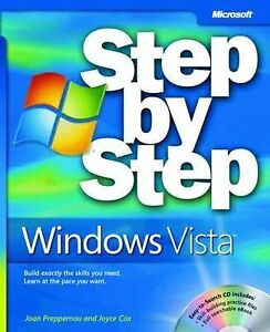 Details about Microsoft Windows Vista Step by Step Book/CD Package (Step by  Step (Microsoft))