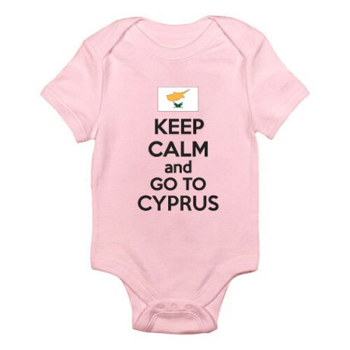 fun thème baby grow Restez calme et aller à Chypre-chypriote Costume Europe