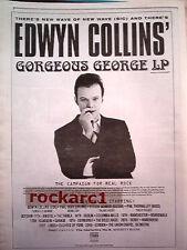 "EDWYN COLLINS Gorgeous George 1994 UK Poster size Press ADVERT 16x12"""
