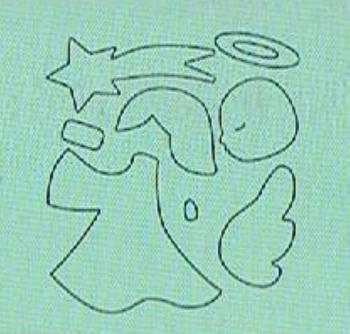 1 Stanzschablone WEIHNACHTEN Engel Nikolaus Krippe SIZZIX BIGZ M
