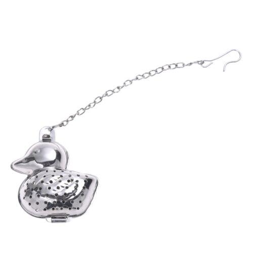 Duck Shape Stainless Steel Infuser Filter Strainer Tea Ball Spoon E9Q1 R8