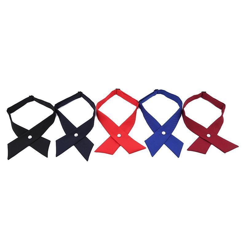 Adjustable Criss-Cross Bowtie Neck Tie Unisex Cross School Uniform Tie LA