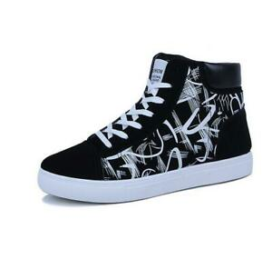 Men-039-s-High-top-Canvas-Shoes-Casual-Shoes-Athletic-Sneakers-Walking-Jogging-Shoes