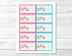 Image Is Loading Pink Owl Blossom Printable Baby Shower Diaper Raffle