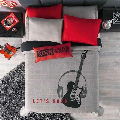 Queen Size Manfei Musical Bedding Set 3pcs for Kids Boys Guitar Radio Drum Kit Headset Decor Sheet Set Music Theme Fitted Sheet Microfiber Bed Sheet Set 1 Fitted Sheet + 2 Pillow Cases