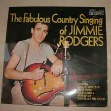 JIMMIE RODGERS - The Fabulous country Singing Of  Jimmie Rodgers (Vinyl Album)