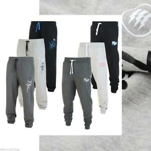 MENS-FLY53-CUFFED-JOGGERS-TRACKSUIT-SLIM-FIT-JOG-PANT-JOGGING-BOTTOMS-BLACK-GREY