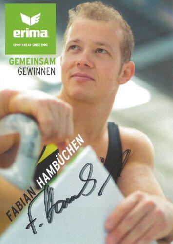 Autogramm Fabian Hambüchen OlympiasiegerTurnen Reck 2016 Rio handsigniert Portr#