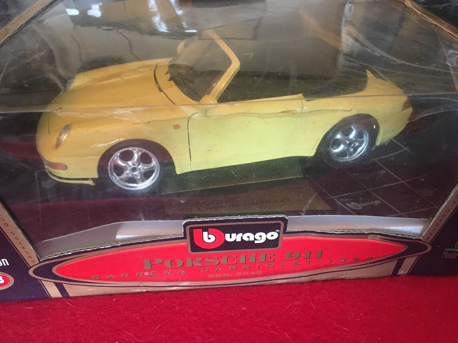 Cd188c Burago Carrera Cabriolet19941 Cavo Porsche 911 18 qSMpUzV