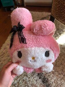FuRyu Sanrio My Melody Kuromi Black Lace Lying Down Big Plush 30 cm NEW