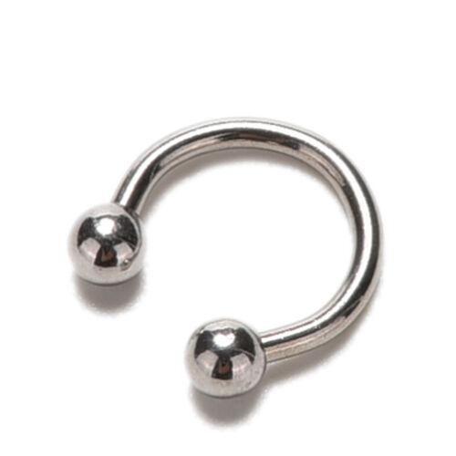 Stylish Stainless Steel Body Jewelry Horseshoe Nose Piercing Septum Lip RingWD