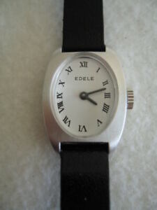 NOS-NEW-VINTAGE-MECHANICAL-HAND-WINDING-ST-STEEL-ANALOG-EDELE-WOMEN-039-S-WATCH-1960